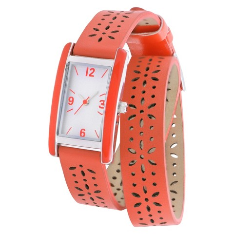 Women's Merona® Double Wrap Watch - Orange