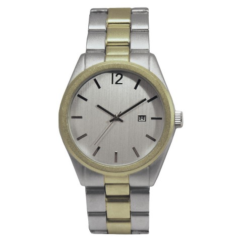 Merona® Round Case Bracelet Watch - Two Tone