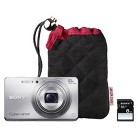 Sony DSCW690 Taylor Swift 16.1MP Digital Camera Bundle with Carrying Case, 8GB Memory Card - Silver