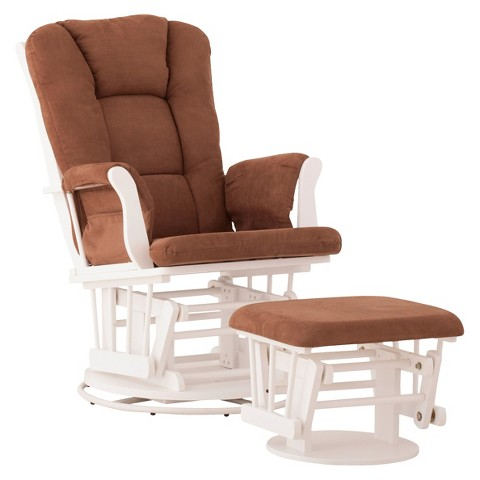 Status Milano Swivel Glider with Nursing Stool Ottoman
