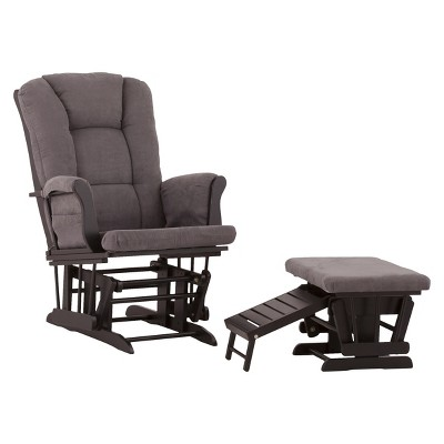Status Veneto Glider and Nursing Ottoman - Black/Grey