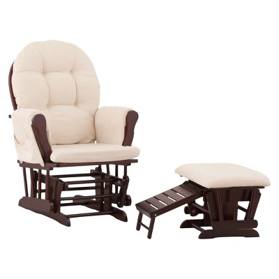 Status Roma Glider and Nursing Ottoman - Cherry/Beige