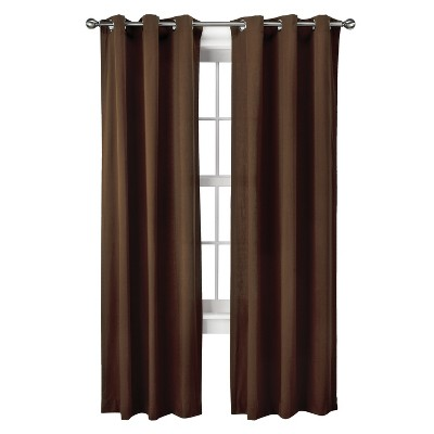 "Threshold™ Grayson Grommet Curtain Panel Pair - Brown (42x84"")"