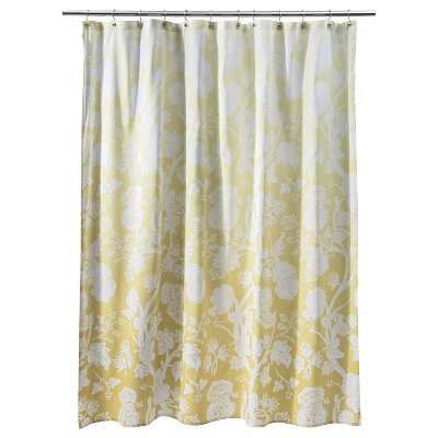 Ombre Floral Shower Curtain - Yellow - Threshold™
