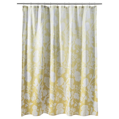 Ombre Floral Shower Curtain