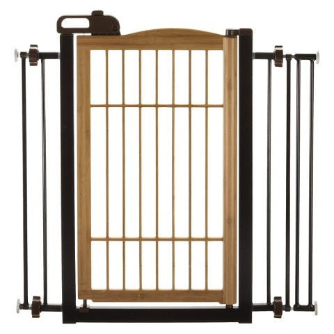 Richell Také One-Touch Pet Gate - Bamboo