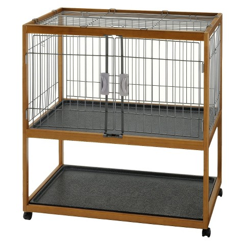 Richell Mobile Critter Condo with Trays - Brown