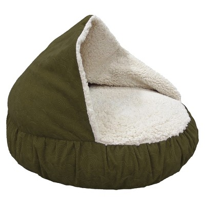 Canine Creations Burrow Pet Bed - Olive Green