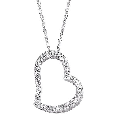Fancy Cz Heart Slider Pendant