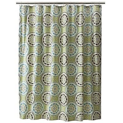 Threshold™ Medallion  Shower Curtain - Blue/Green