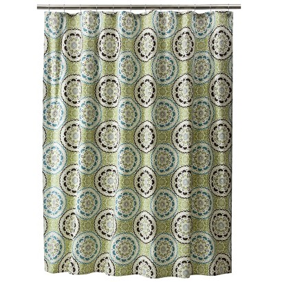 THRESHOLD™ MEDALLION  SHOWER CURTAIN - BLUE/GREEN