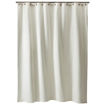 threshold waffle weave shower curtain