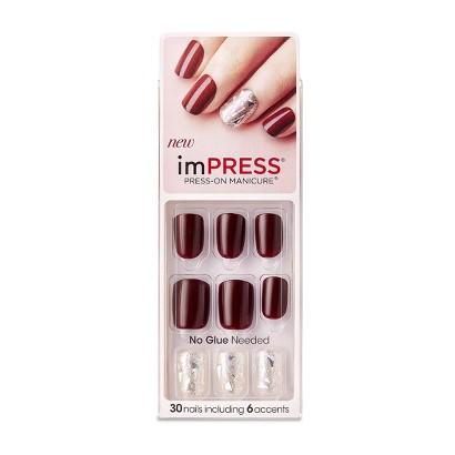 Broadway Nails imPRESS® Press-On Manicure® - Kiss & Tell