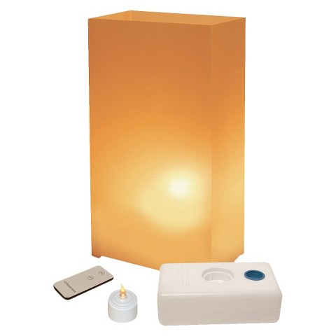 Remote Control Battery Operated Luminaria Kit - Tan (10 Count)