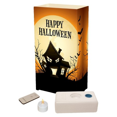 Remote Control Battery Operated Luminaria Kit - Haunted House (10 Count)