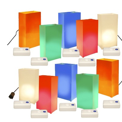 Electric Luminaria Kit with Luma Bases - (10 Count)