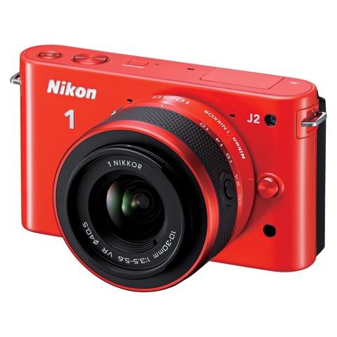 Nikon 1 J2 10.1MP Digital Camera with 10-30mm and 30-110mm Lens Kit - Orange