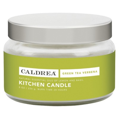 Caldrea Essentials Collection Green Tea Kitchen Candle - 8 Ounce