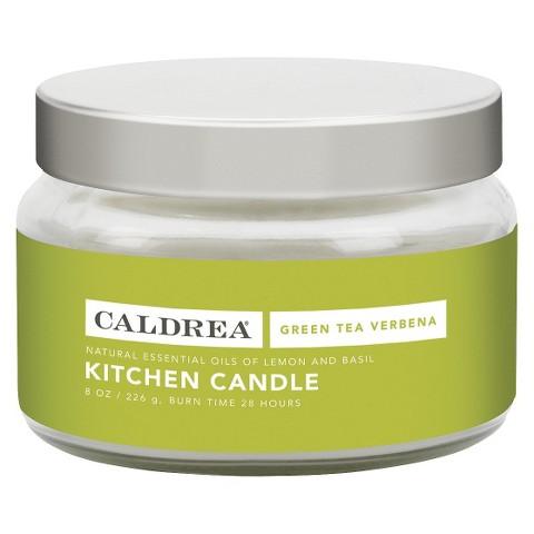 Caldrea Essentials Collection Green Tea Kitchen Candle - 8 oz