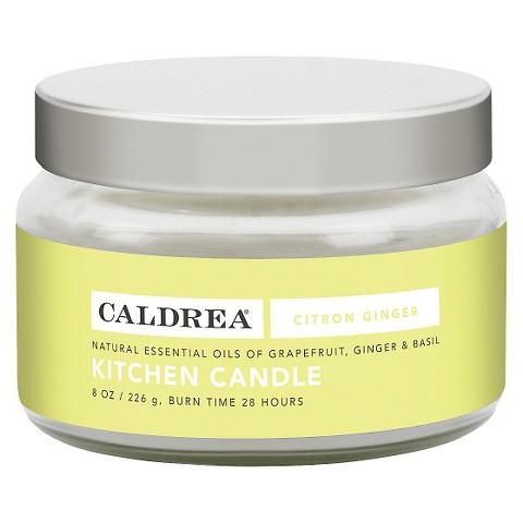 Caldrea Essentials Collection Citron Ginger Kitchen Candle - 8 oz