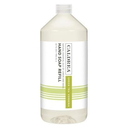 Caldrea 32 Ounce Green Tea Verbena Hand Soap Refill