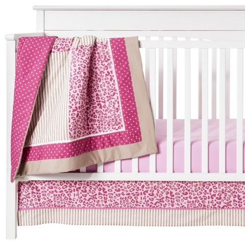 Tabby cheetah 10 Piece Crib Set