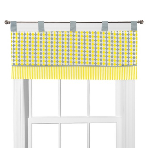 Pam Grace Creations Window Valance - Argyle Giraffe