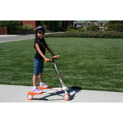 Trikke T5 Kids Carving Scooter - Orange/White