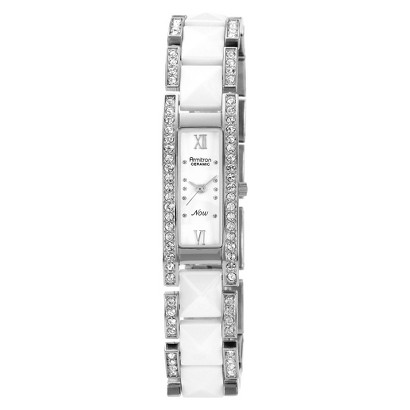 Armitron® Women's Ceramic And Crystal Watch - White