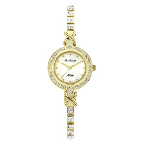 Armitron® Women's Dress Watch With Crystal Accents - Gold