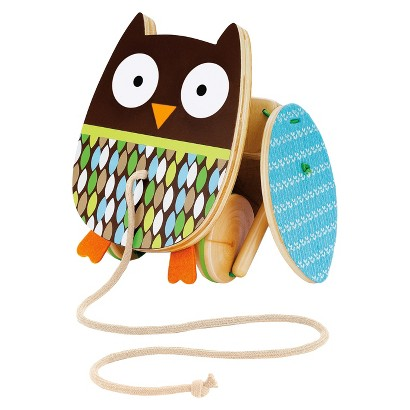 Skip Hop Treetop Friends Wooden Pull Toy - Flapping Owl