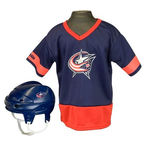 Columbus Blue Jackets Hockey Uniform Set for Kids - Ages 5-9