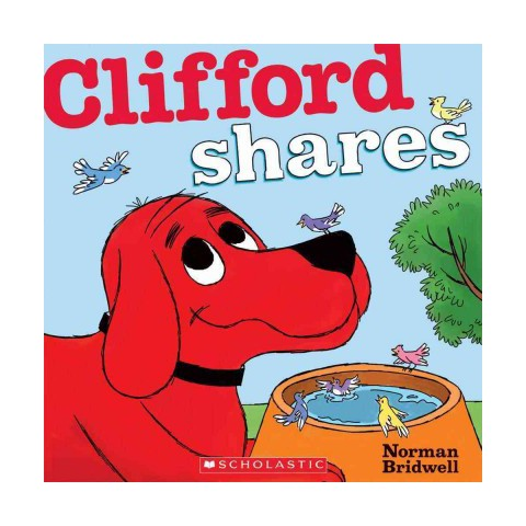 Clifford Shares by Norman Bridwell (Board Book)