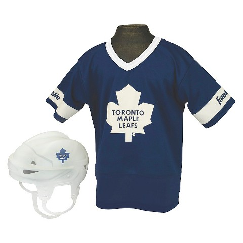 Franklin Sports Toronto Maple Leafs NHL Hockey Uniform Set for Kids - OSFM ages 5-9