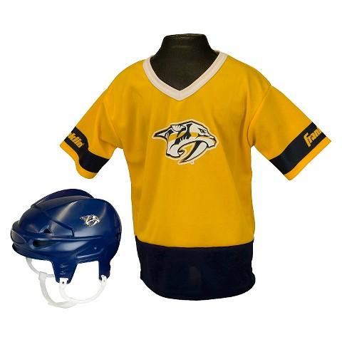 Franklin Sports Nashville Predators NHL Hockey Uniform Set for Kids - OSFM ages 5-9