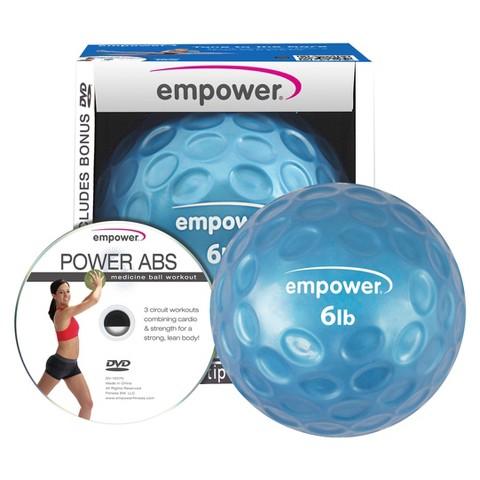 Empower Fingertip Medicine Ball With DVD 6Lb - Blue