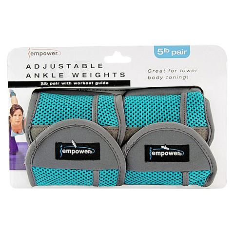 Empower Adjustable Ankle Weights Pair 5Lb - Blue