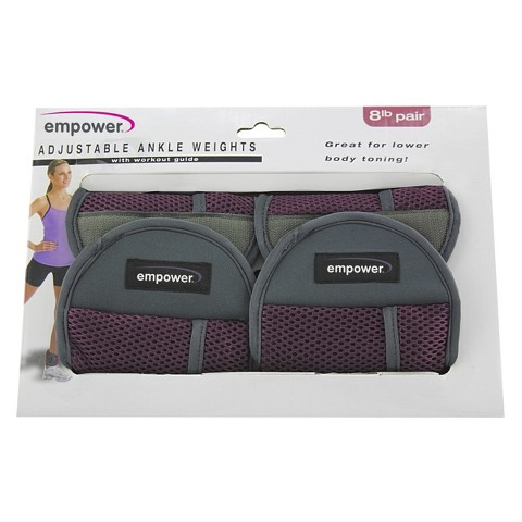 Empower Adjustable Ankle Weights Pair 8Lb - Pink