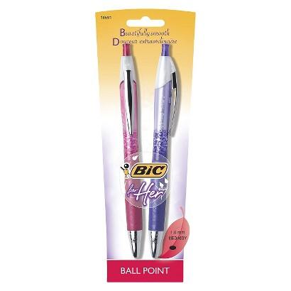 Bic  Bic for Her 2ct Black  Ballpoint Retractable Pen