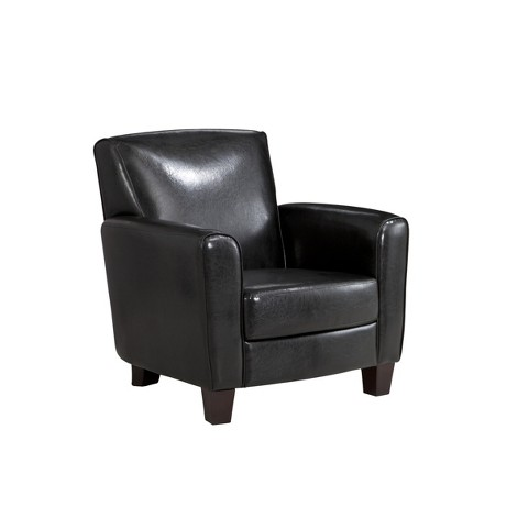 Threshold™ Nolan Bonded Leather Club Chair - Black