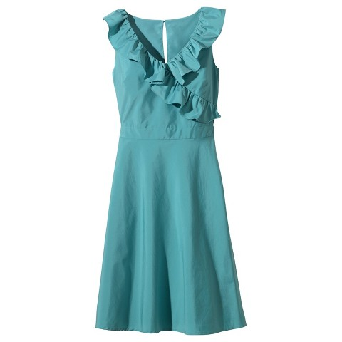 Women's Taffeta V-Neck Ruffle Bridesmaid Dress Assorted Colors - TEVOLIO&#153
