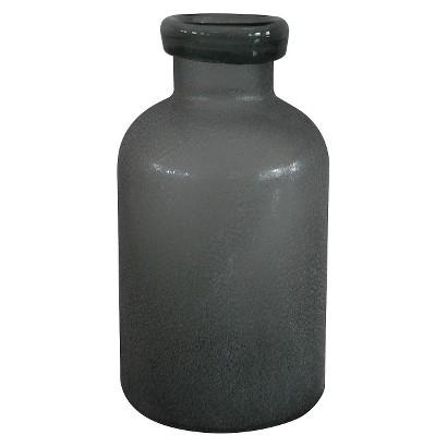 """Threshold&#153 Gray Sandblasted Mason Jar Vase - 9.8"""""""