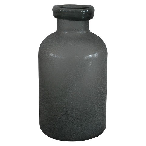 Threshold&#153 Gray Sandblasted Mason Jar Vase - 9.8""