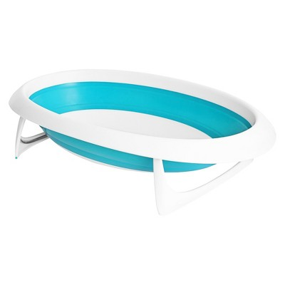 Boon Naked 2-Position Collapsible Baby Bathtub - Blue