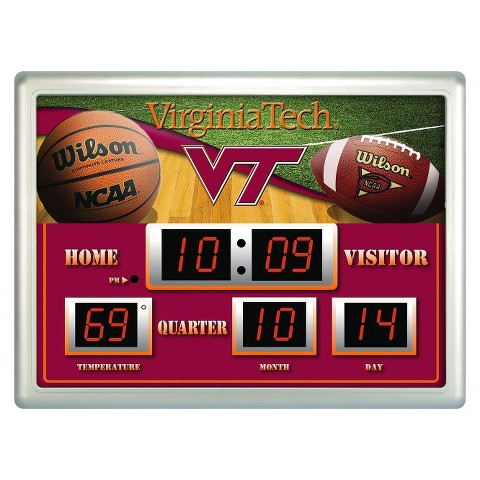 Virginia Tech Hokies Team Sports America Scoreboard Clock