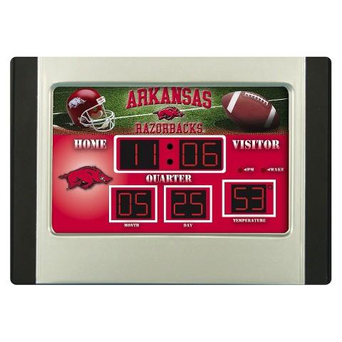 Arkansas Razorbacks Team Sports America Scoreboard Desk Clock