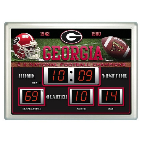 Georgia Bulldogs Team Sports America Scoreboard Clock