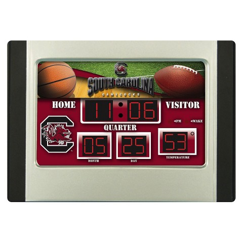 South Carolina Gamecocks Team Sports America Scoreboard Desk Clock