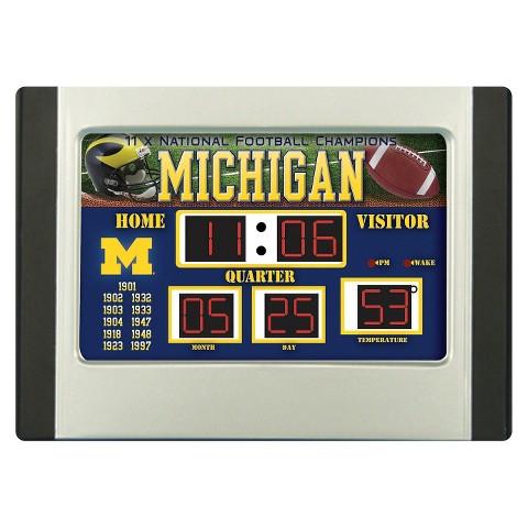 Michigan Wolverines Team Sports America Scoreboard Desk Clock