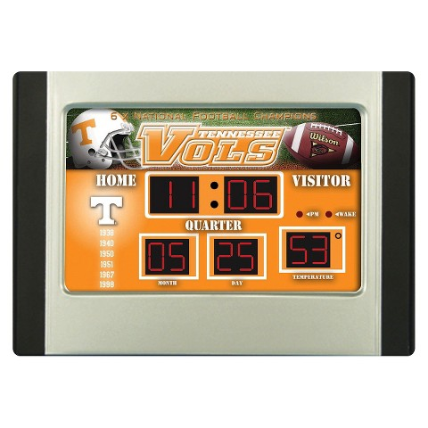 Tennessee Volunteers Team Sports America Scoreboard Desk Clock